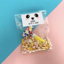 Traktatie sticker -panda