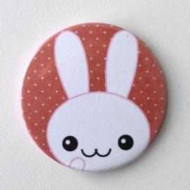 Button konijn roze