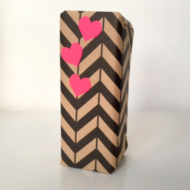 Hartje sticker roze klein