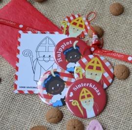 Grote Sinterklaas buttons