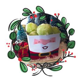 Printable kerstman bakjes