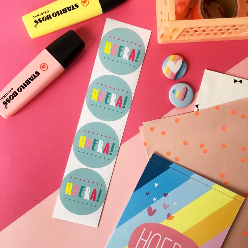 Stickers TypischMies Hoera - mint