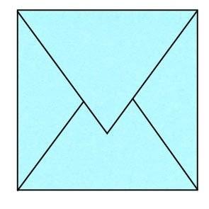 envelop lichtblauw