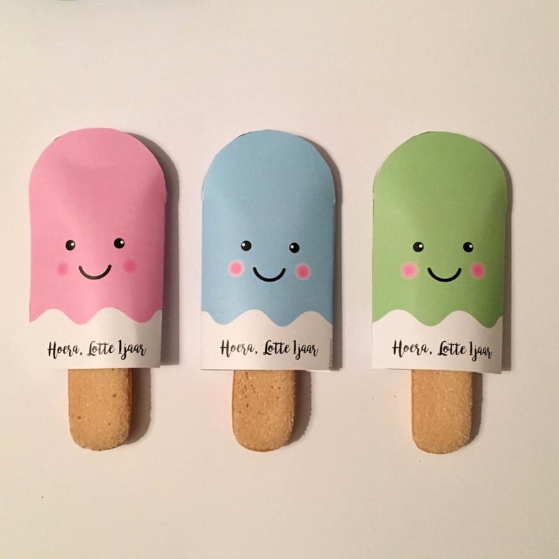 Traktatie ijsjes printable