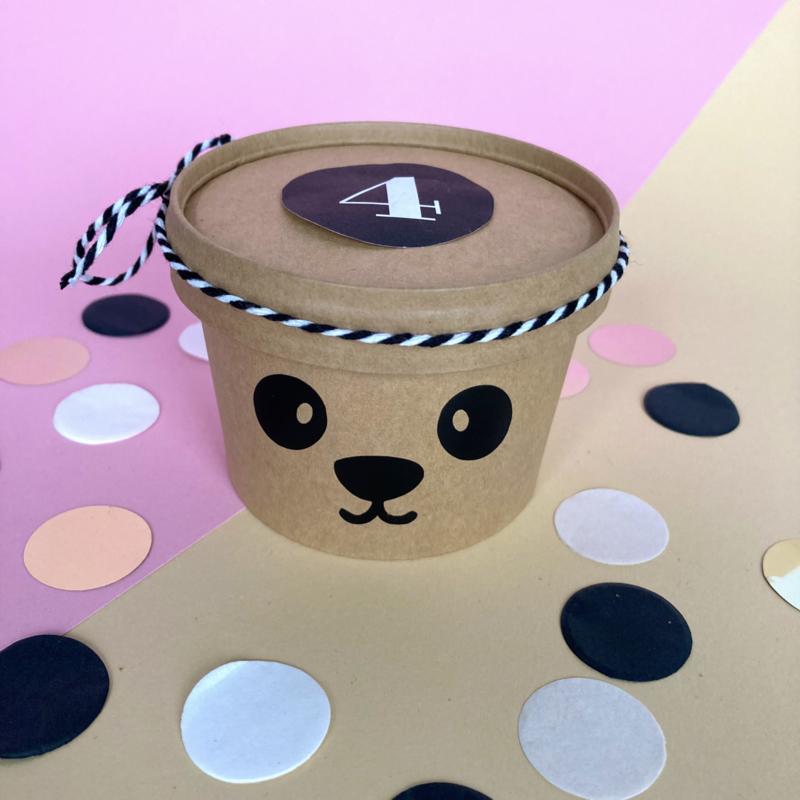 Stickers panda gezichtje