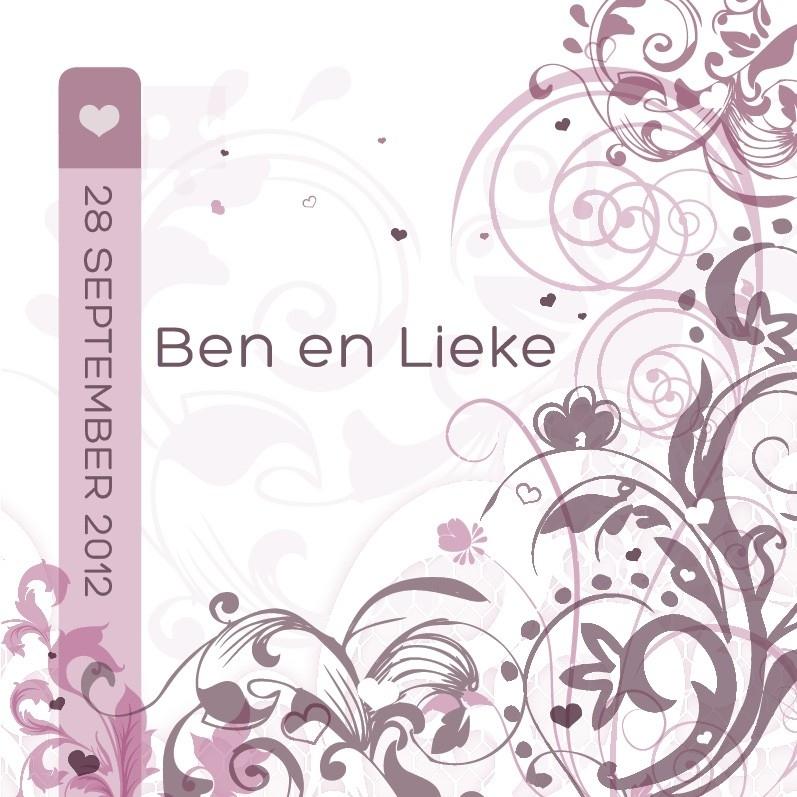 Trouwkaart Ben en Lieke