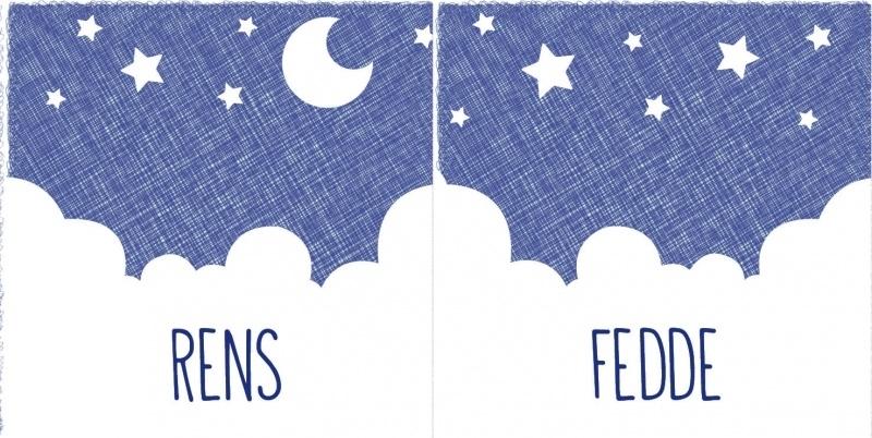 Geboortekaartje Fedde en Rens