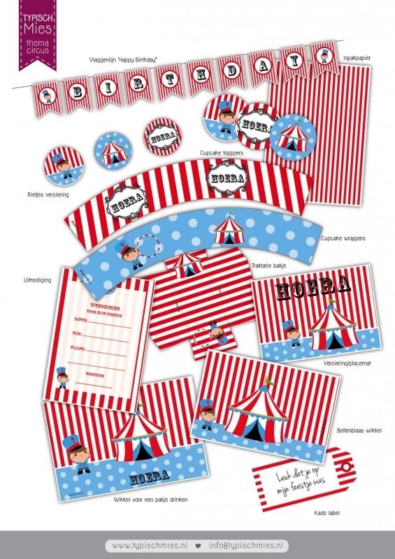 Printable circus