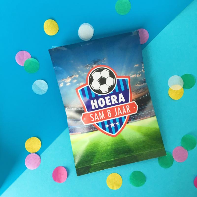Traktatie chipszakje voetbal printable