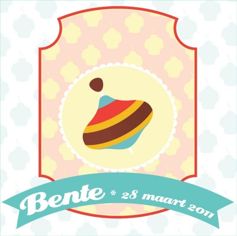 Geboortekaartje Bente