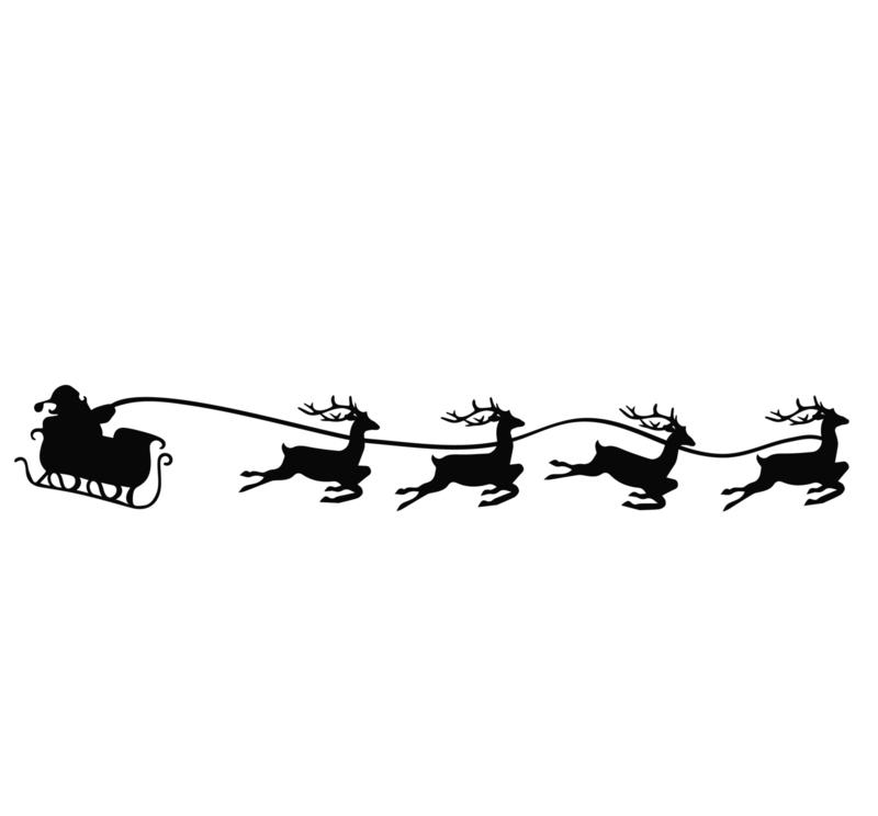 Raamsticker Kerstman in slee