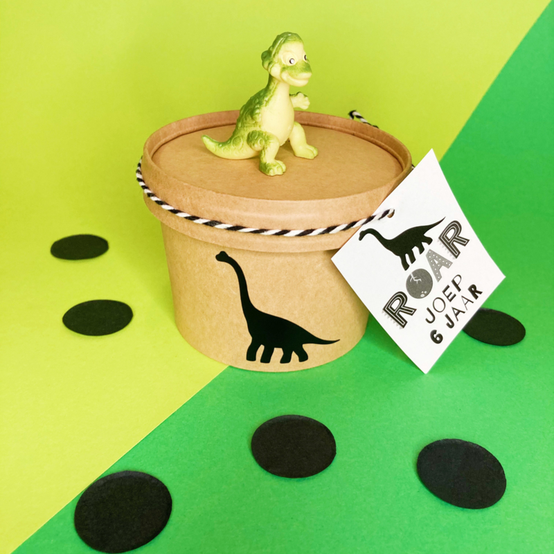 Traktatie label - dino (printable)