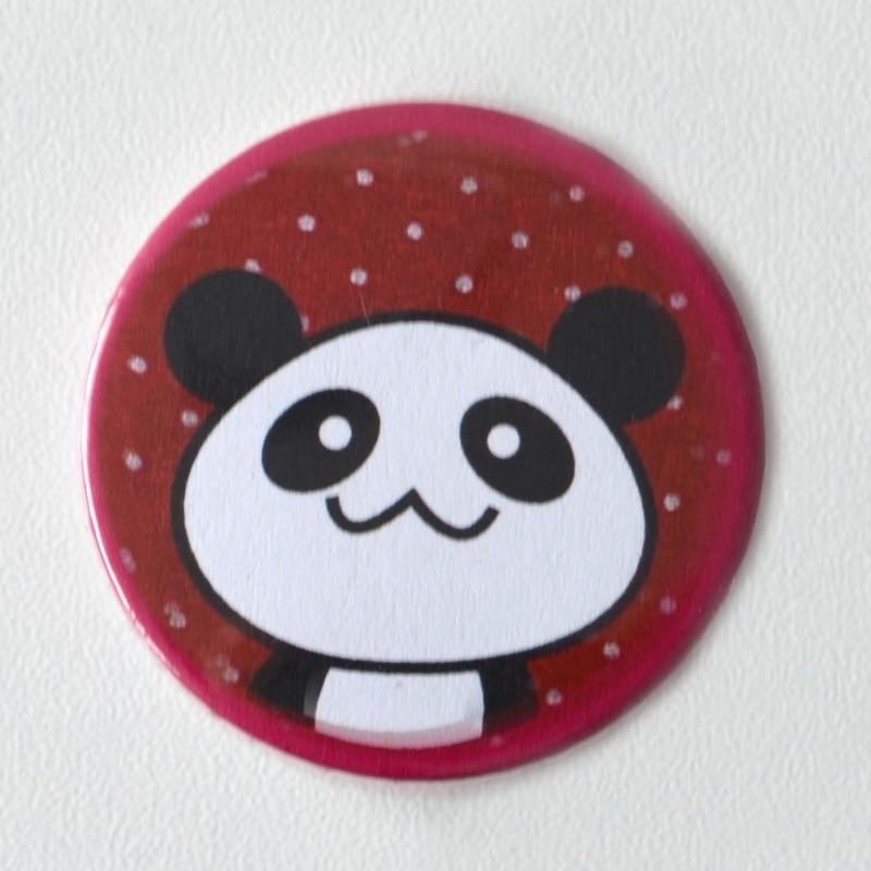 Button panda roze