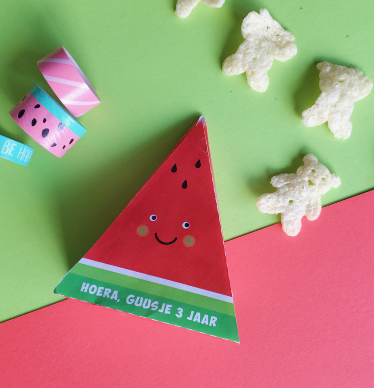 Traktatie watermeloen printable