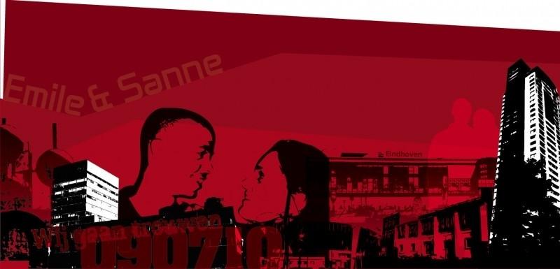 Trouwkaart Emile en Sanne