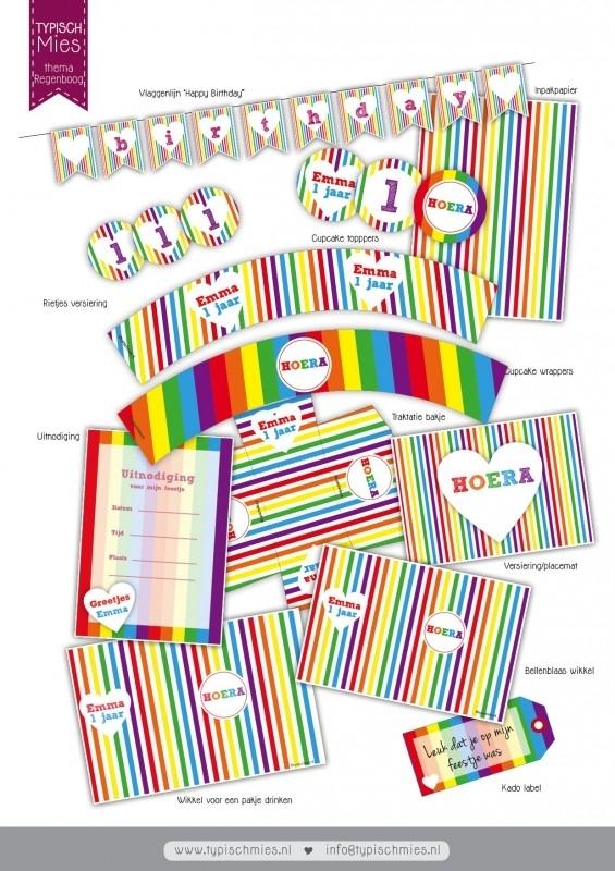 Printable regenboog
