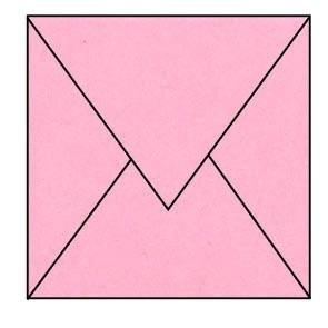 envelop licht roze