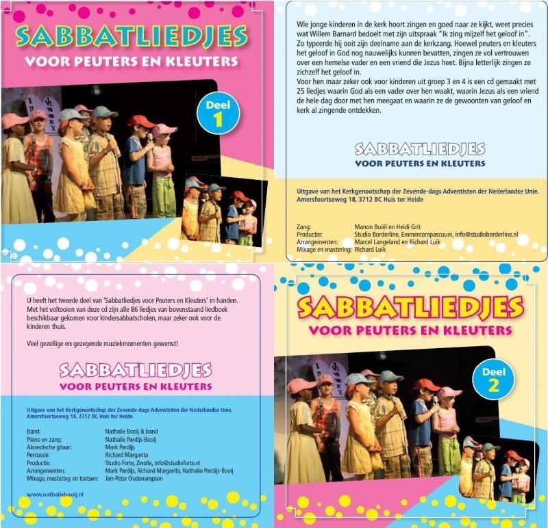 CD Sabbatliedjes voor Peuters en Kleuters (CD 1 & 2)