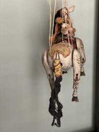 Antiek houten marionet paard uit Frankrijk