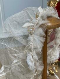 Prachtige antieke bonnet met tasje Frankrijk rond 1910