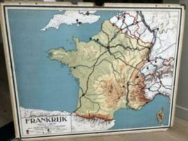 Antieke landkaart Frankrijk