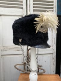 Brocante hoed van fanfare maat 57 GERESERVEERD