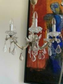 Prachtige antieke kroonluchter kristal met 6 lichtpunten