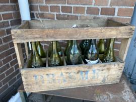 Brocant houten krat voor flessen