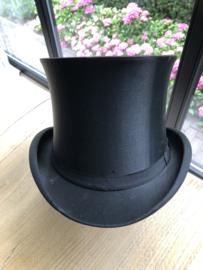 Antiek Frans zijden chapeau hoge hoed