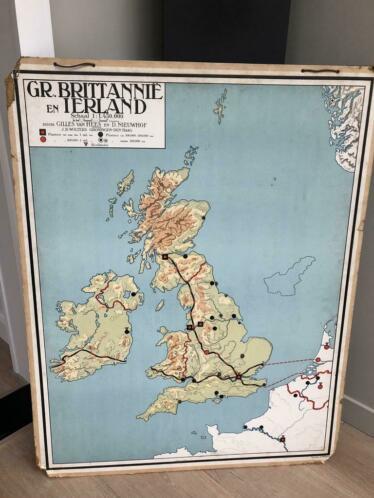 Antieke landkaart Groot Brittannie en Ierland: