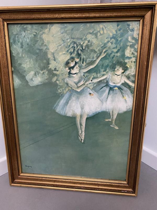 Mooi Frans schilderij met ballerina
