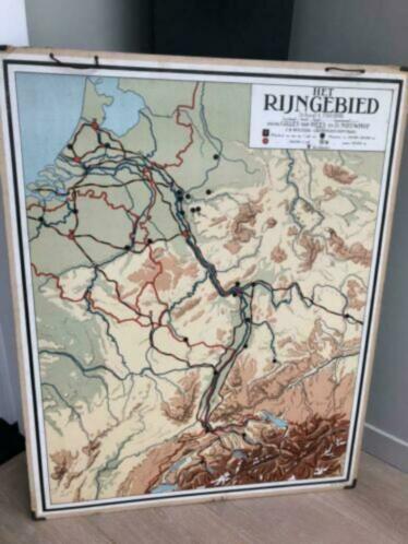 Antieke landkaart Rijngebied