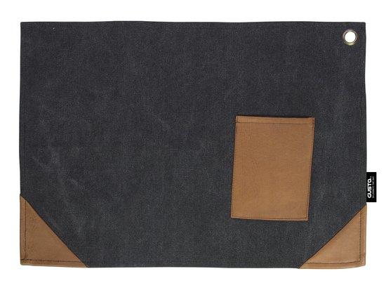 Placemet Canvas Zwart (2 stuks)