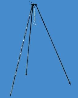 Driepoot Gedraaid 120 cm Grijs