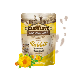 Carnilove Pouch - Rabbit with Marigold voor kittens 85 gram