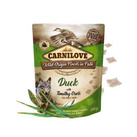 Carnilove  Pouch - Duck & timothy grass 300 gram