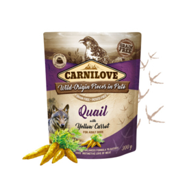 Carnilove Pouch - Quail & yellow carrot 300 gram