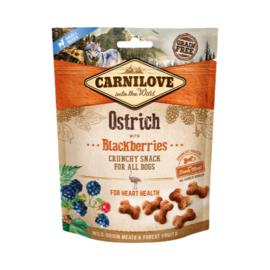 Carnilove Crunchy Ostrich & Black Berries 200 gram