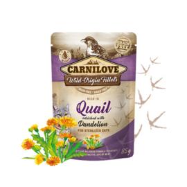 Carnilove Pouch - Quail with Dandelion 85 gram