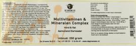 Multivitaminen en mineralen complex 250 gram