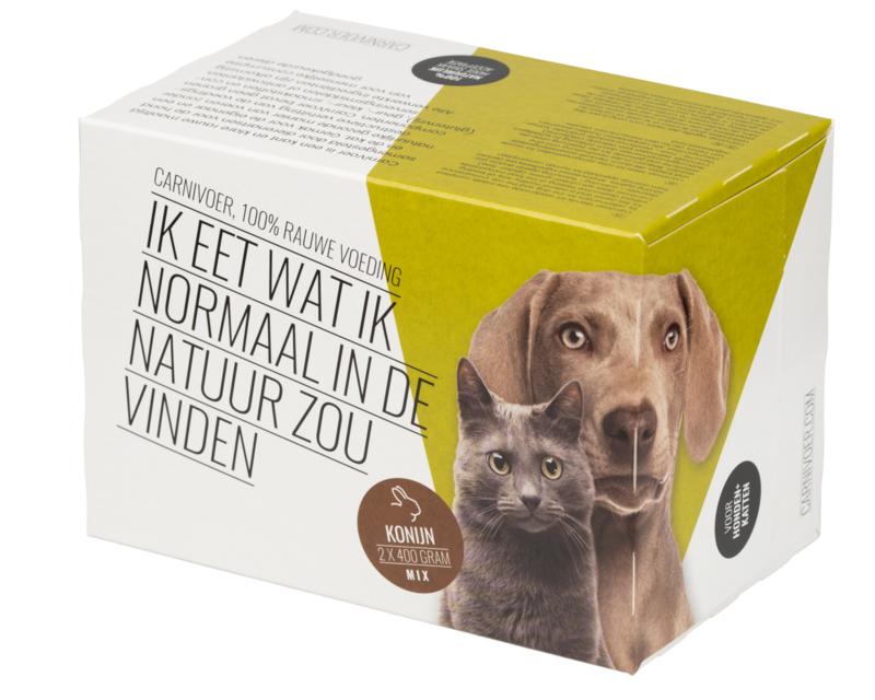 CarniVoer Konijn-mix 12x800 gram