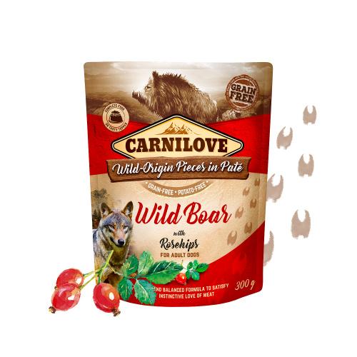 Carnilove Pouch - Wild boar & rosehip 300 gram