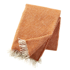 Plaid Knut lamswol orange