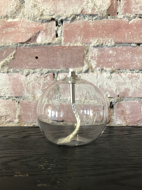 Olielamp glas bol 9 cm