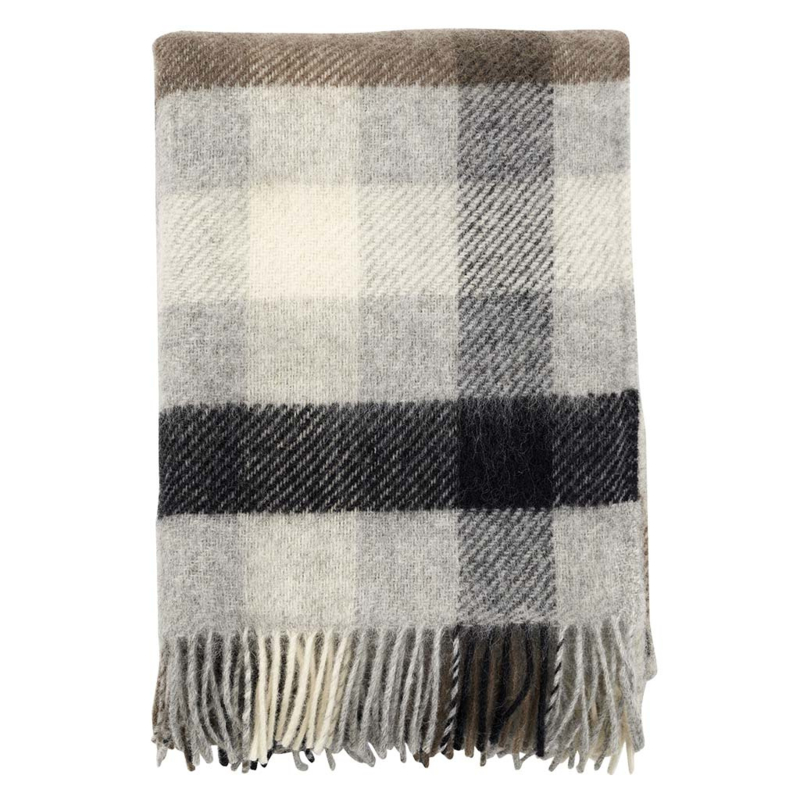 Plaid Gotland wol multi grey