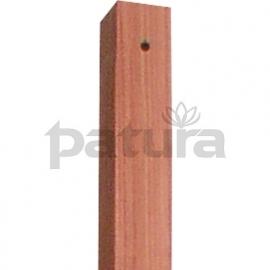 hardhouten paal 38x38 mm