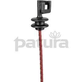 631.022 verenstaal paal rond 1 mtr. met isolator