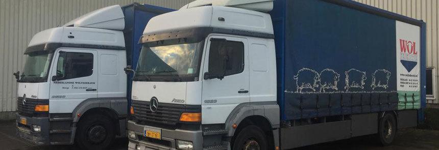 Wolinname vrachtwagens