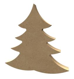 Kerstboom dik mdf 15cm