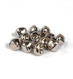Belletjes zilver 10mm 12 stuks